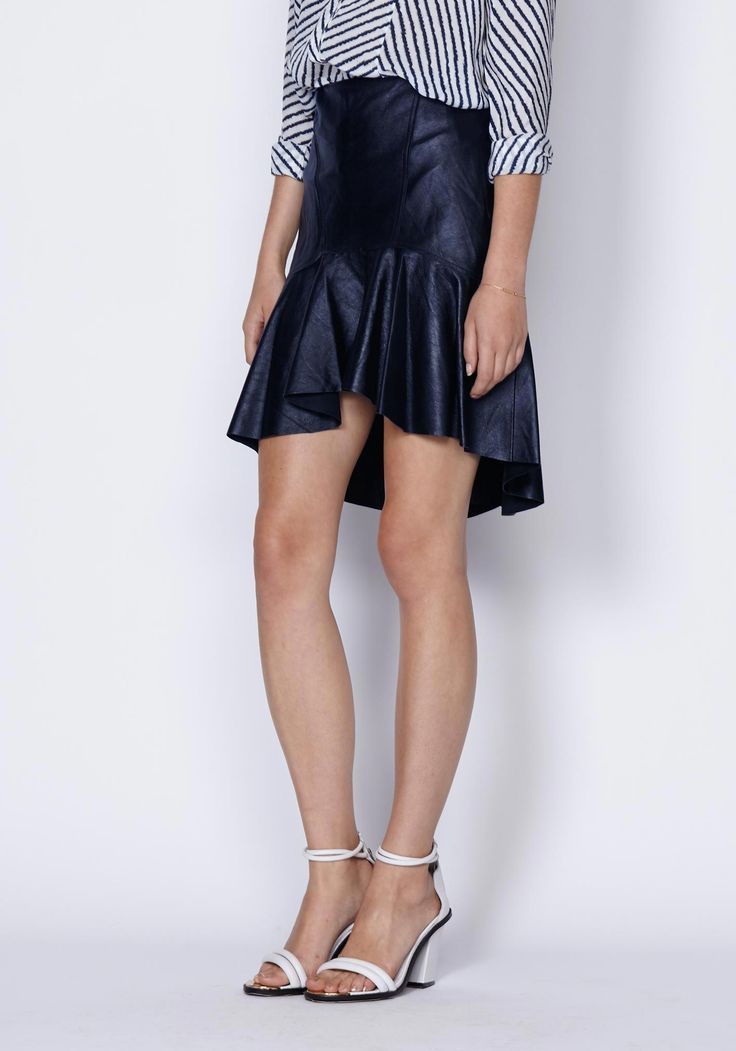 Palermo Leather Peplum Skirt | New In | Shop the latest women's fashion at Oncewas