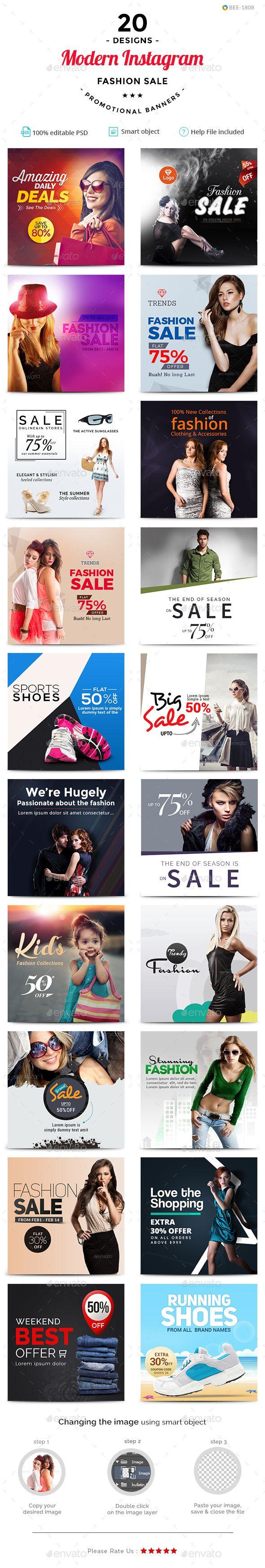 Fashion Sale Instagram Templates  - 20 Designs