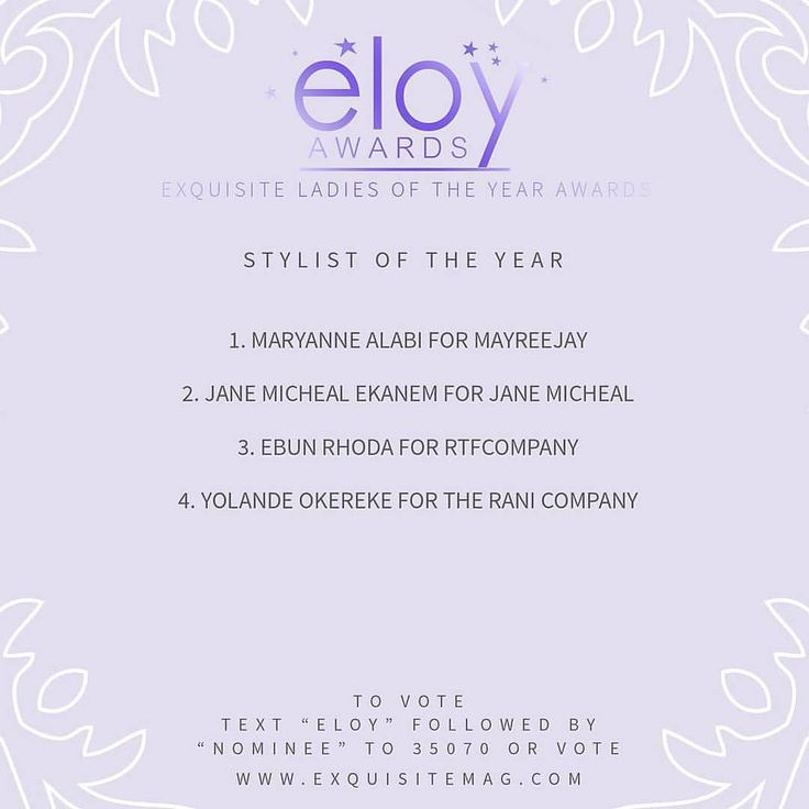 """RepostBy @eloyawards: """" VOTING NOW OPEN  Thank you to everyone who sent in their nominees. Based on the nominations received here are the top 4 Stylist Of The Year. Remember your vote counts! So send in your choice for the Best Stylist Of The Year.  To vote: text ELOY followed by Nominee to 35070 or vote online at www.exquisitemag.com  #myexquisitelady#EloyAwards y#exquisitewoman #women #iamexquisite #instaquotes #instagram#naija #ELOY #cemihonours #Steevane #SV"""