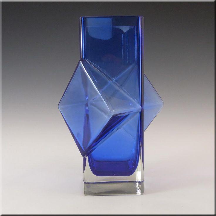 Riihimaki/Erkkitapio Siiroinen Blue Glass Pablo Vase #1388 - £120.00