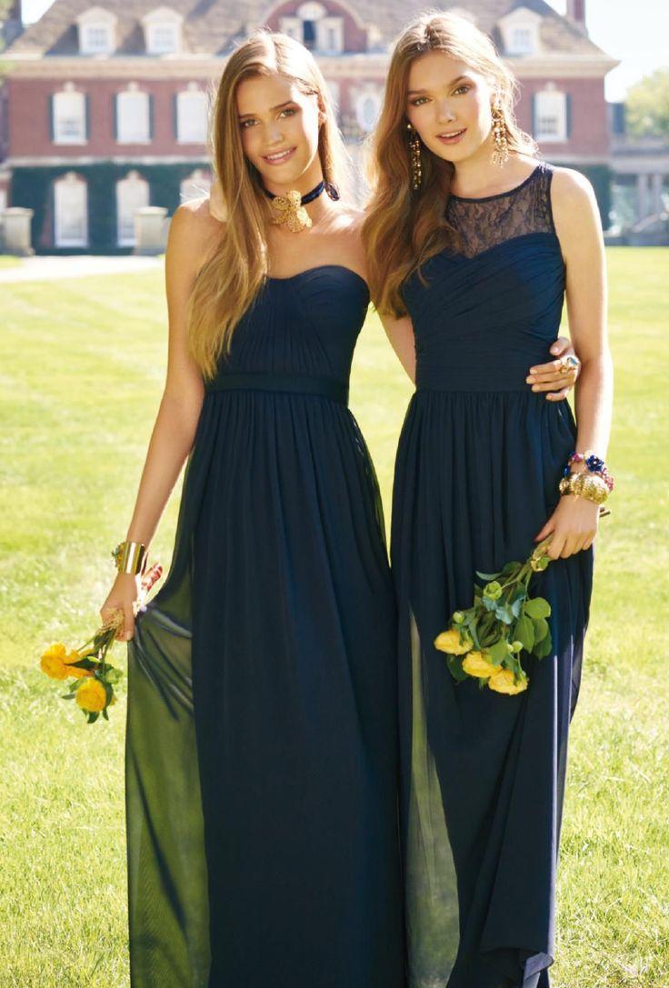 329 best bridesmaid dresses style lish images on pinterest illusion neck lace bodice a line long chiffon bridesmaid dress ombrellifo Images
