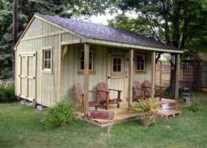 68 best images about out buildings on pinterest for Cottage sheds