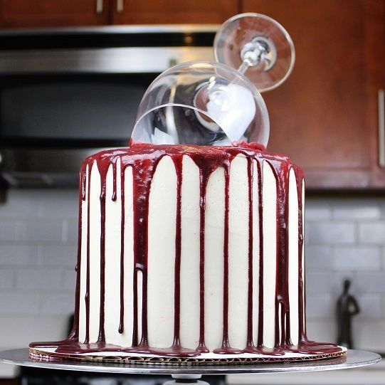 This cake is perfect for all the Red Wine fanatics out there! I made it for my friend Stephanie, who loves red wine, and who actually came up with the idea for this cake!! The recipe for this cake …