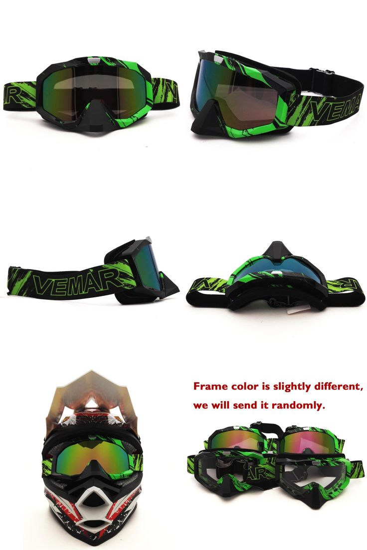 [Visit to Buy] Green X316C Motocross Goggles Cross Country Skis Snowboard ATV Mask Oculos Gafas Motorcycle Helmet MX Goggles Spectacles #Advertisement