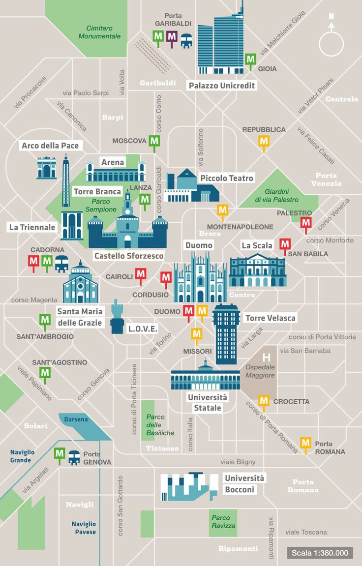 "Some maps designed for the guide ""Milano confident…"