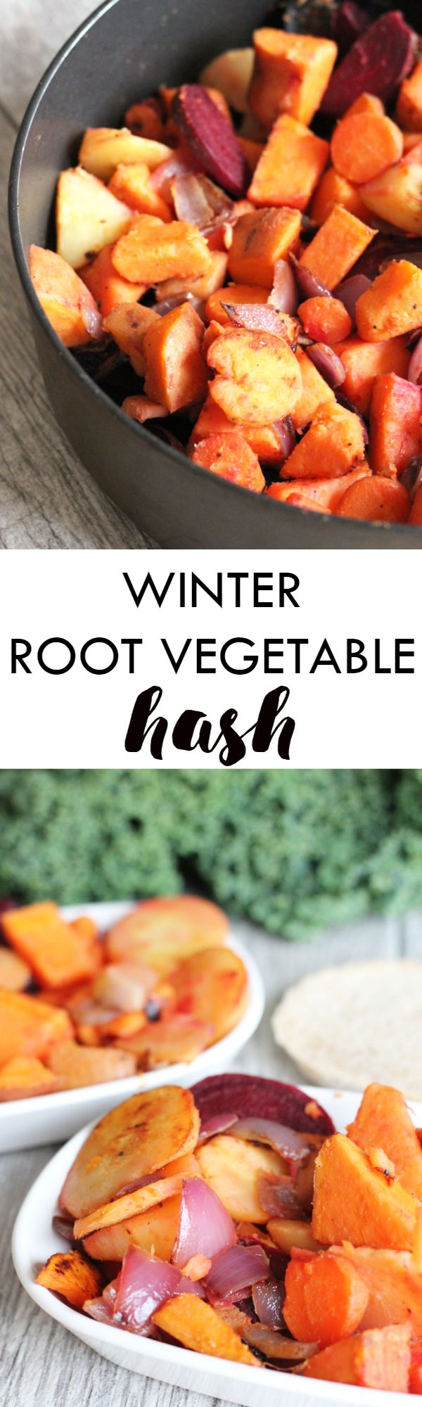 This Winter Root Vegetable Hash is the perfect whole foods start to your day! Made with natural whole foods and packed with nutrients, this is the perfect kick start to your day // dairy free, gluten free, paleo, vegan, vegetarian, ready in under 30 minut
