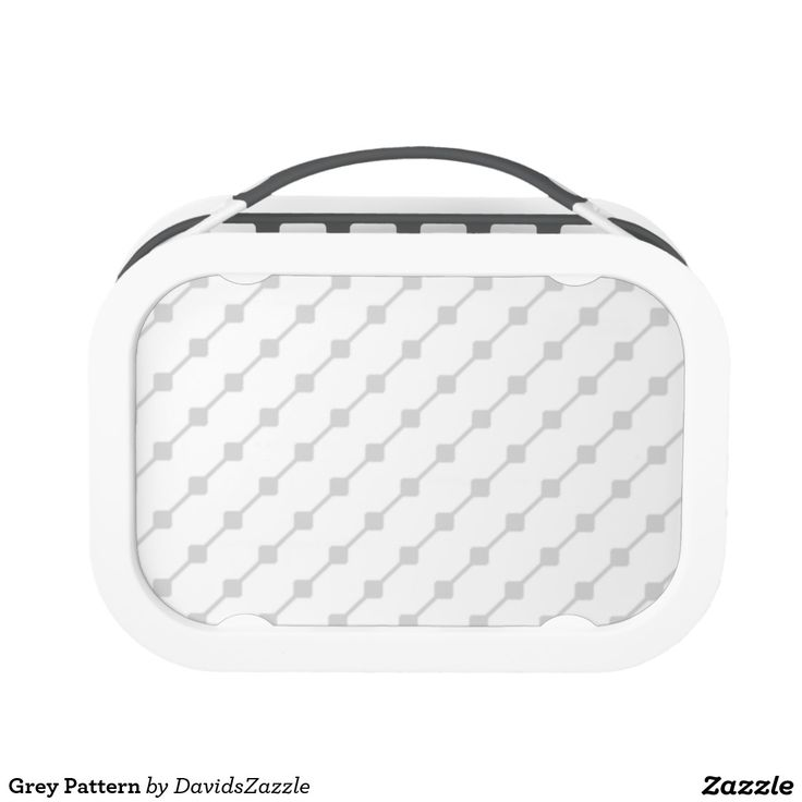 Grey Pattern Lunch Box Available on many more products! Type in the name of this design in the search bar on my Zazzle products page!   #abstract #art #pattern #design #color #accessory #accent #zazzle #buy #sale #kitchen #dining #home #decor #entertain #serving #guest #food #foodie #apartment #dorm #student #accent #living #modern #chic #contemporary #style #life #lifestyle #minimal #simple #plain #minimalism #square #line #white #grey #gray