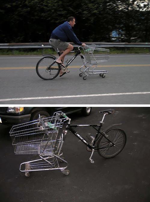 Me voy al super en bici.. ya vengo ;)