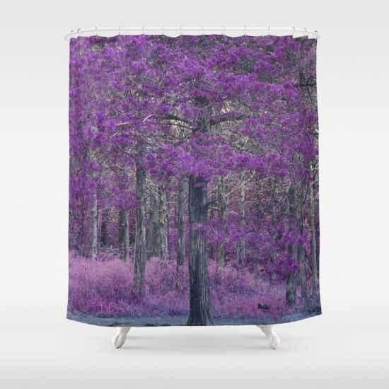 Shower Curtain  Purple  Trees  Unique  Shower Curtains