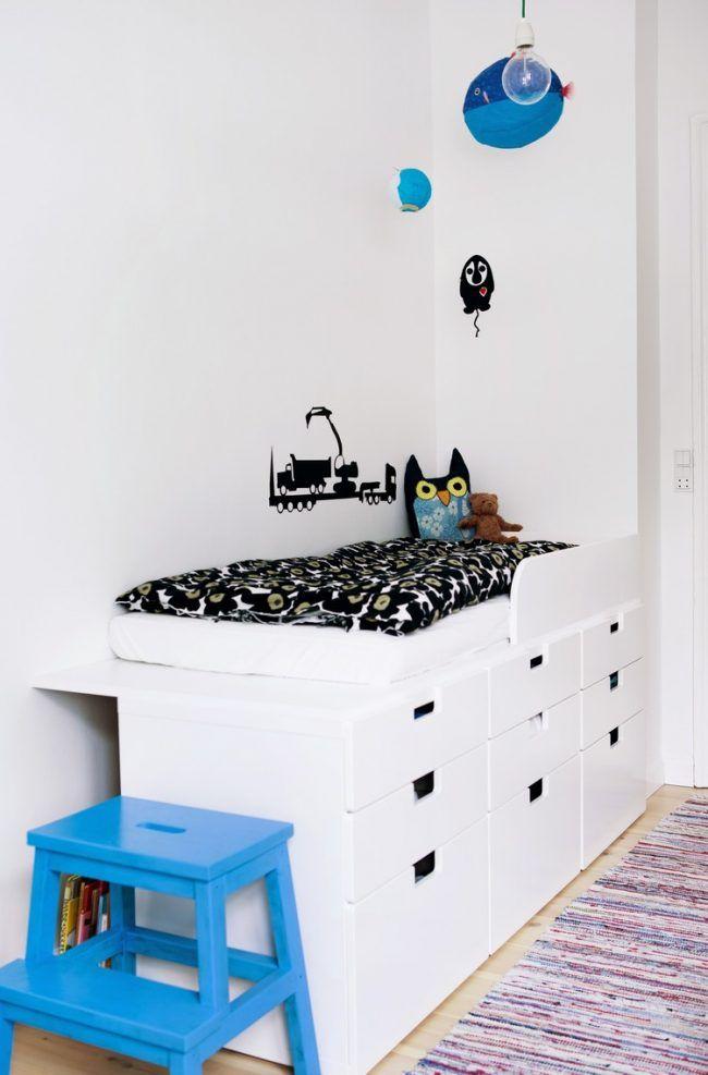 hochbett selber bauen ikea hack stuva aufbewahrungssystem kinderbett idee kinderzimmer. Black Bedroom Furniture Sets. Home Design Ideas