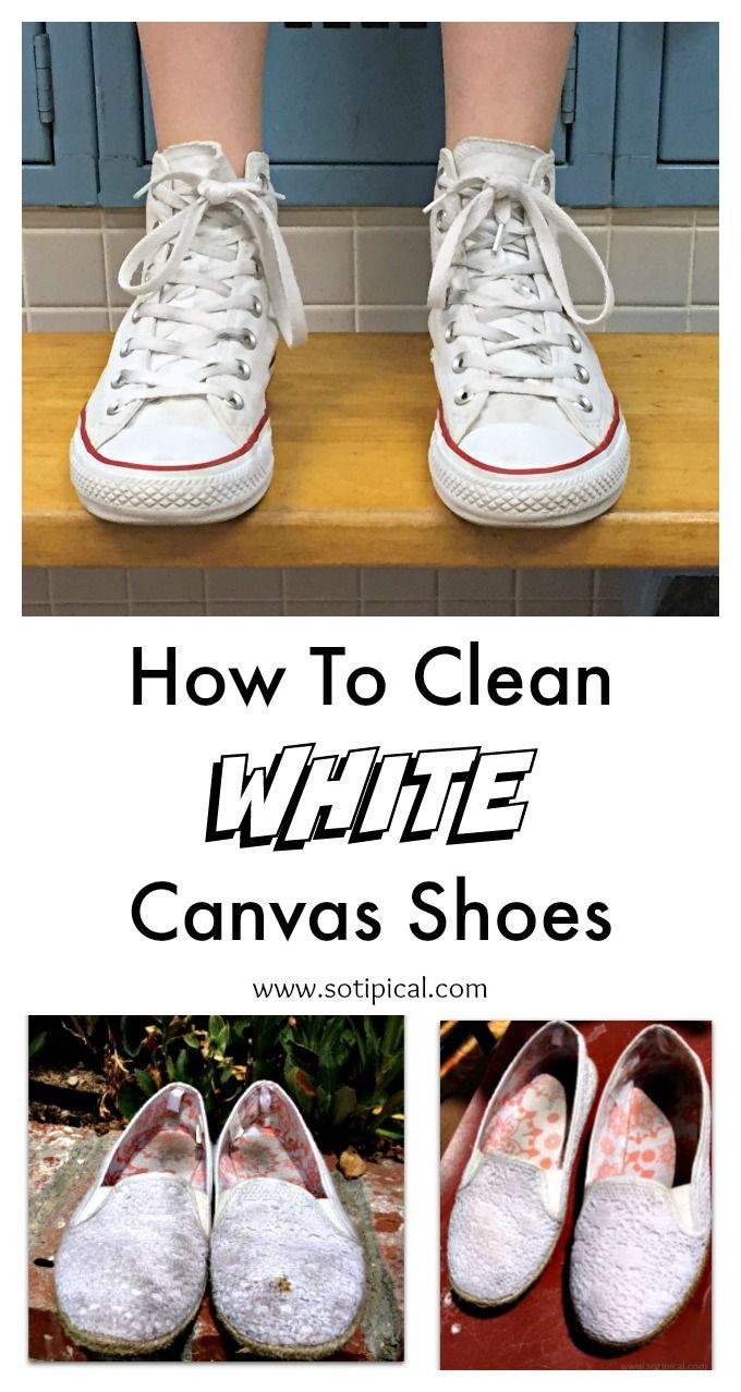 How to clean white canvas shoes. Converse, Vans, Keds, etc.