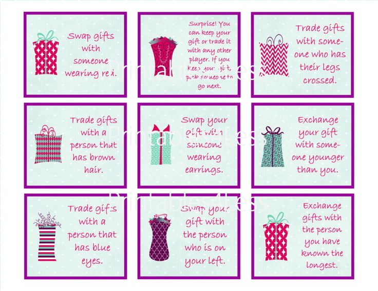 Favorite Things Gift Exchange Game For Christmas Xdunwq Newyearplus Site