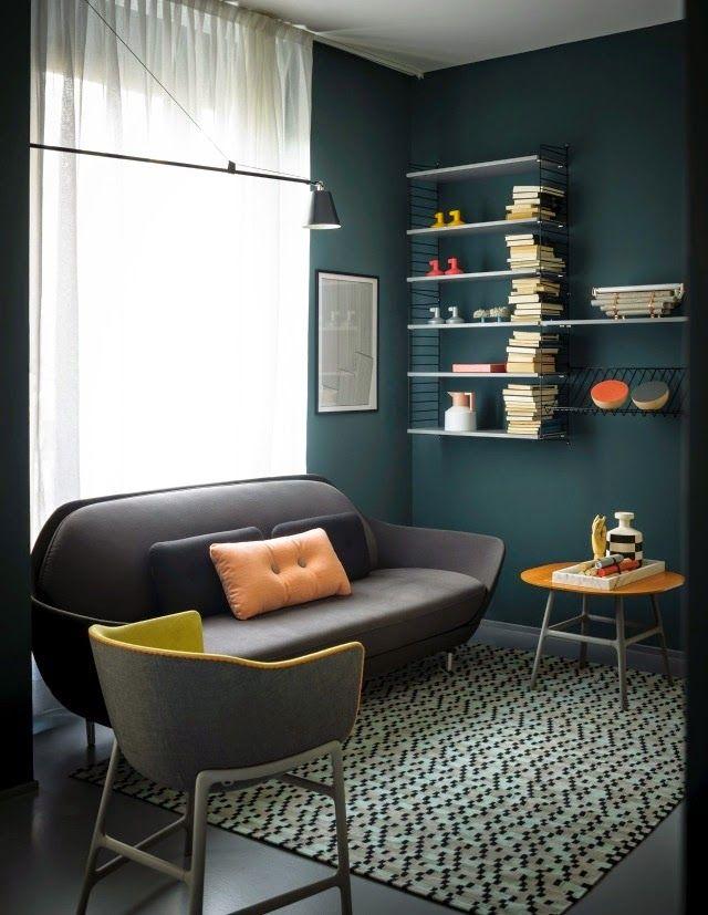 bleu ptrole appartement sombre - Chambre Bleu Petrole