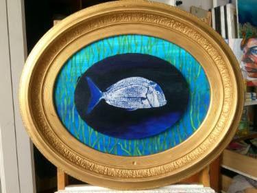 "Saatchi Art Artist Karlijn Surminski; Painting, ""Catch of the Day"" #art"