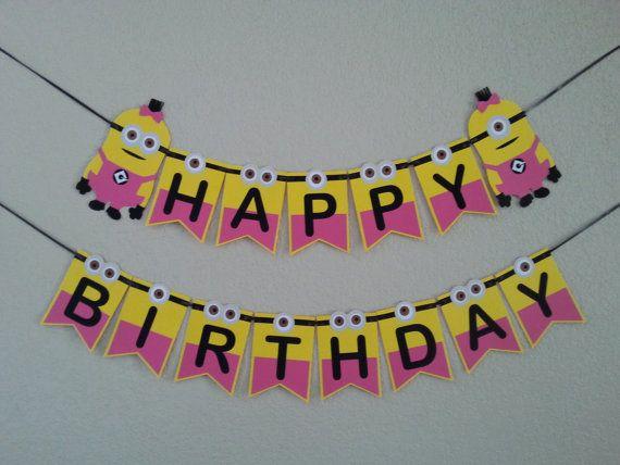 Minion Despicable Me Happy Birthday girl Minion by bebepeekaboo
