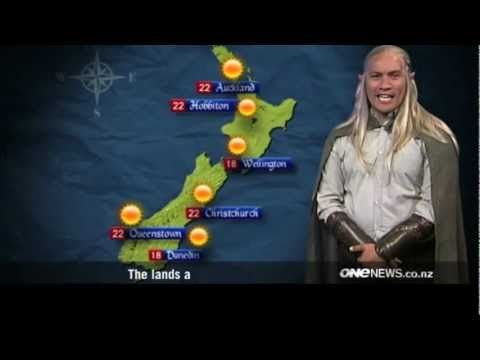 Weather Forecast From Middle-Earth: Will all the hobbits and dwarves need to grab sweaters before they go on adventures? This fun newscast has its meteorologist deliver the weather in one of Tolkien's beautiful languages - Elvish
