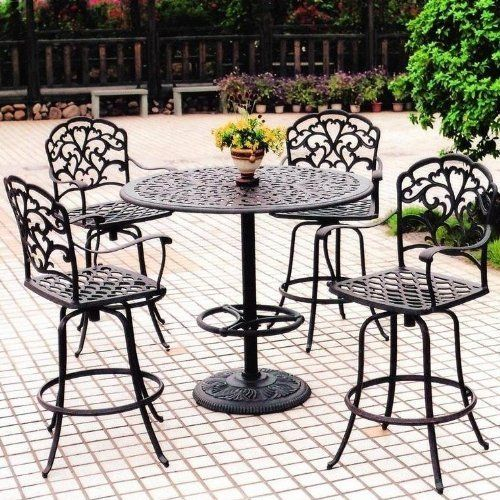 Darlee Catalina 4 Person Cast Aluminum Patio Bar Set   Antique Bronze By  Darlee.