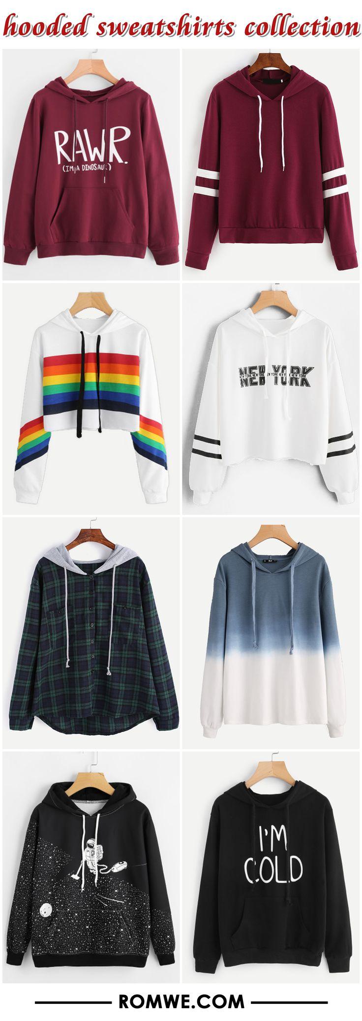 hooded sweatshirts collection 2017 - romwe.com