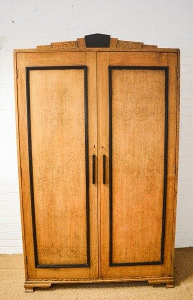 An Art Deco Solid Oak Wardrobe c.1920