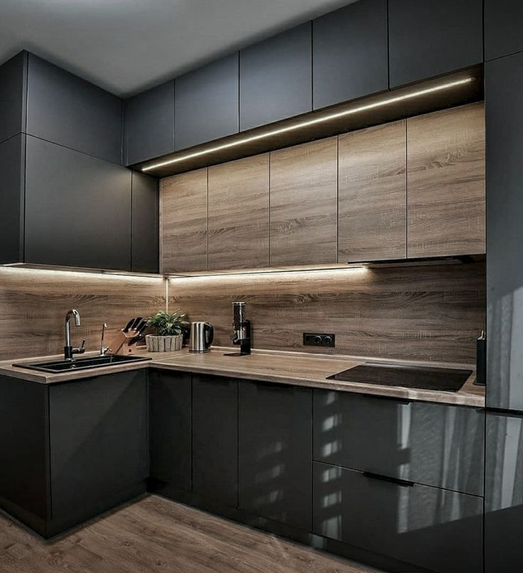 We are in love with black kitchens! Chek out this ideas for a kitchen in black .Bulthaup, Boffi, Gaggenau, … even Ikea has incorporated black into their kitchens      #blackkitchen #kitchenrenovation #kitchendecoration #interiordesignideas #interiordesignblog #interiorinspiration #interiorismo #minimlalistinterior #abitareblog #interiordesigninspiration Kitchen Room Design, Kitchen Cabinet Design, Modern Kitchen Design, Home Decor Kitchen, Interior Design Kitchen, Kitchen Layout, Kitchen Furniture, Urban Interior Design, Kitchen Ideas