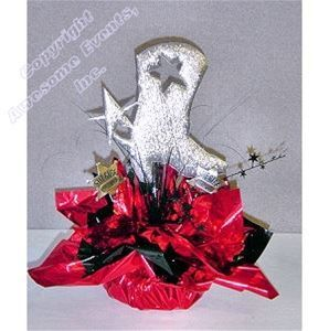 Cowboy Boot Cut out for Western Themed Centerpieces