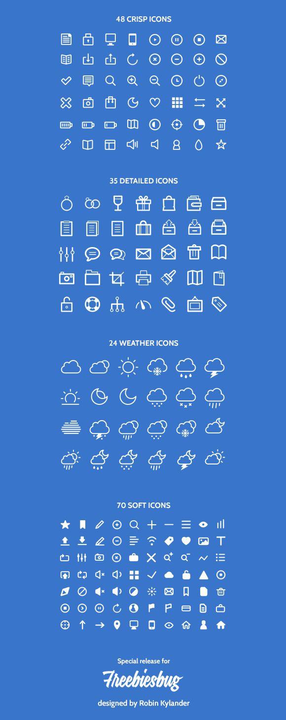 177 Design icons by AI + PSD - Freebiesbug