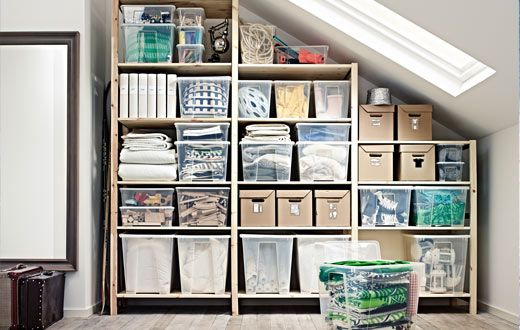 using ikea shelving to fill an awkward space with storage i really don 39 t like those shelves. Black Bedroom Furniture Sets. Home Design Ideas