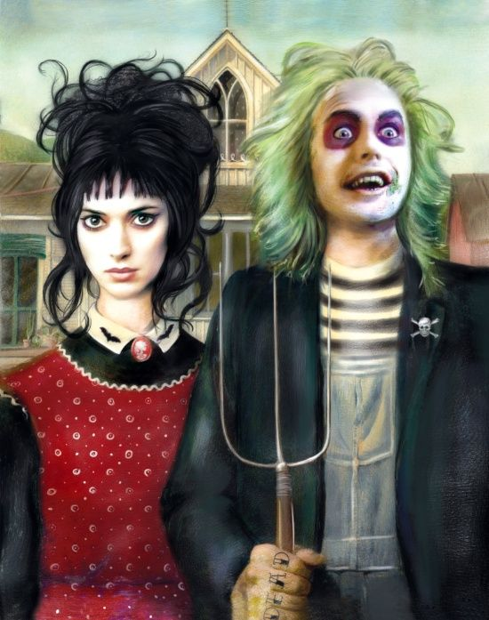 American Gothic BeetleJuice Style by Scarlett River [©2015]