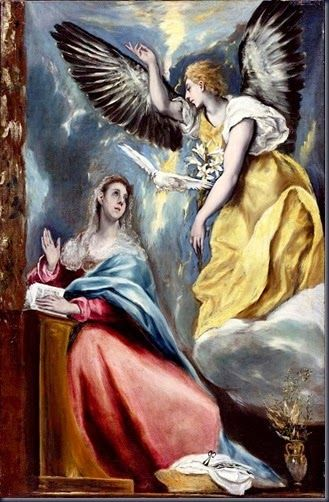 Ο ΕΥΑΓΓΕΛΙΣΜΟΣ....el greco-domenikos-theotkopoulos-the-annunciation-1600...