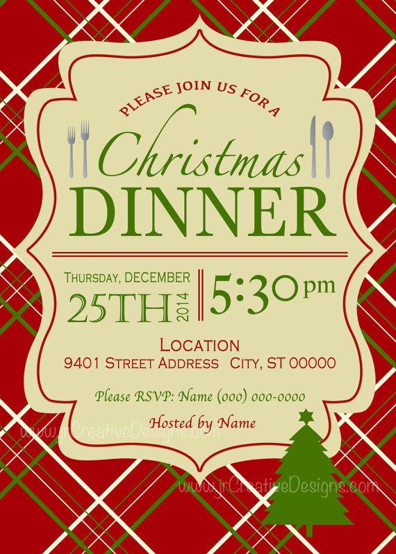 Church Dinner Invitation