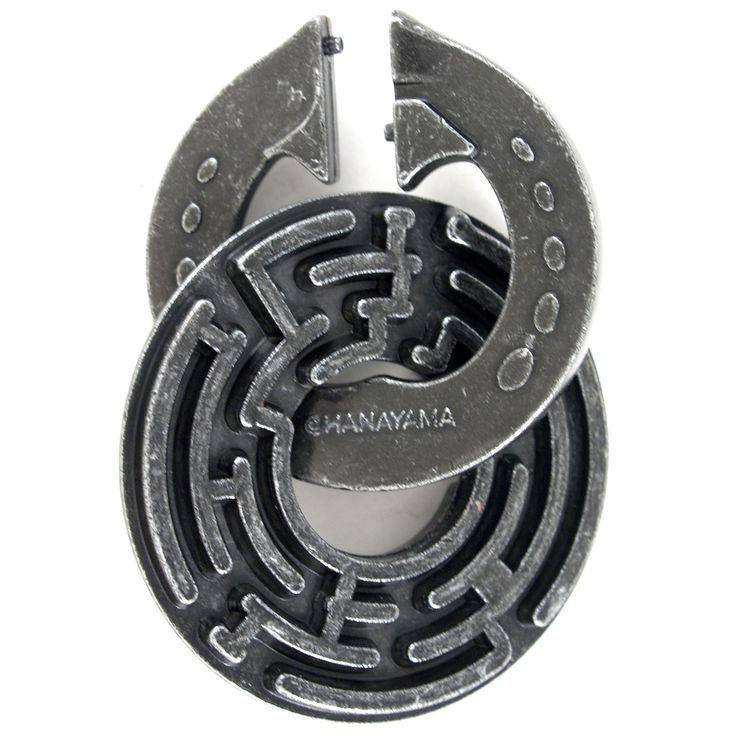 Hanayama Cast Metal Level 5 Labyrinth Brainteaser Puzzle