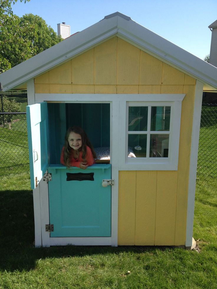 1018 best images about kid 39 s playhouses platforms on for Kids playhouse shed