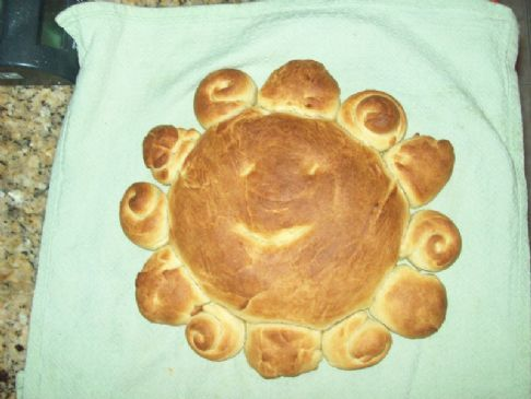 Sun bread to celebrate Winter Solstice and let some sun into our lives on this sad day.