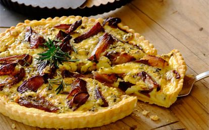 Caramelised Onion and Blue Cheese Quiche recipe