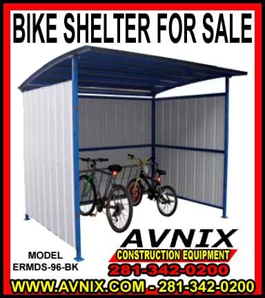 For A FREE Bike Shelter Kit FREE Quote Call 281-342-0200 Outdoor Metal Bike Shelter & Shed Kit For Sale Avnix heavy duty steel bicycle shelters can be adapted for a wide range of diverse applications depending on your requirements.  By adding a … Continue reading →