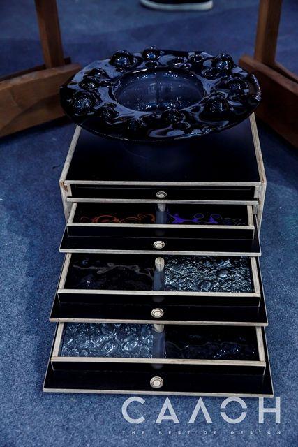 Черный Гейзер и образцы стекла