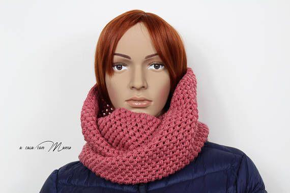 Sciarpa scaldacollo a maglia per donna scaldacollo in lana