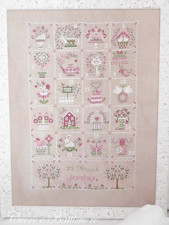 DIY Chart Counted Cross Stitch Patterns Needlework embroidery Spring Boat