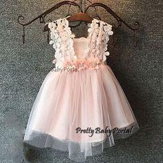 NEW GIRLS Baby Toddler Kid's Spaghetti Strap Floral TUTU Party Wedding Dress #Unbranded #DressyEverydayHolidayPageantWedding