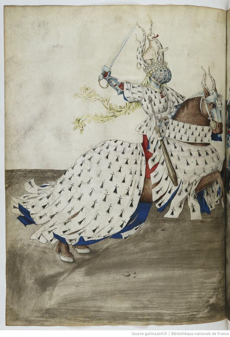 Traittié de la forme et devis comme on fait les tournoyz », par « RENE D'ANJOU    Date d'édition :  1401-1500   Français 2693   Folio 27v