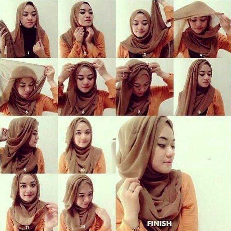 2 Tutorial Hijab Pasmina Simple dan Cantik
