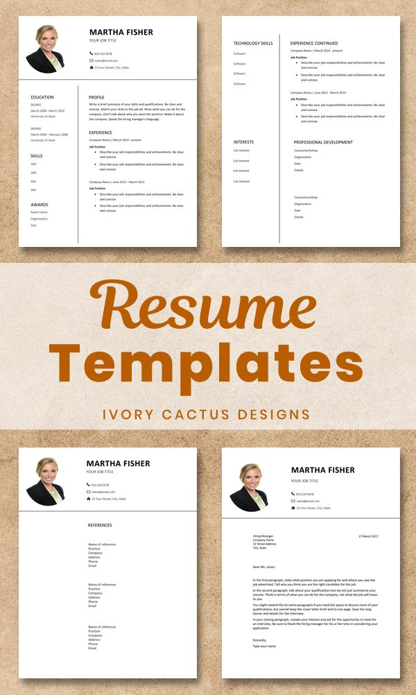 Modern Resume Template With Photo Resume Template Resume Template Word Resume