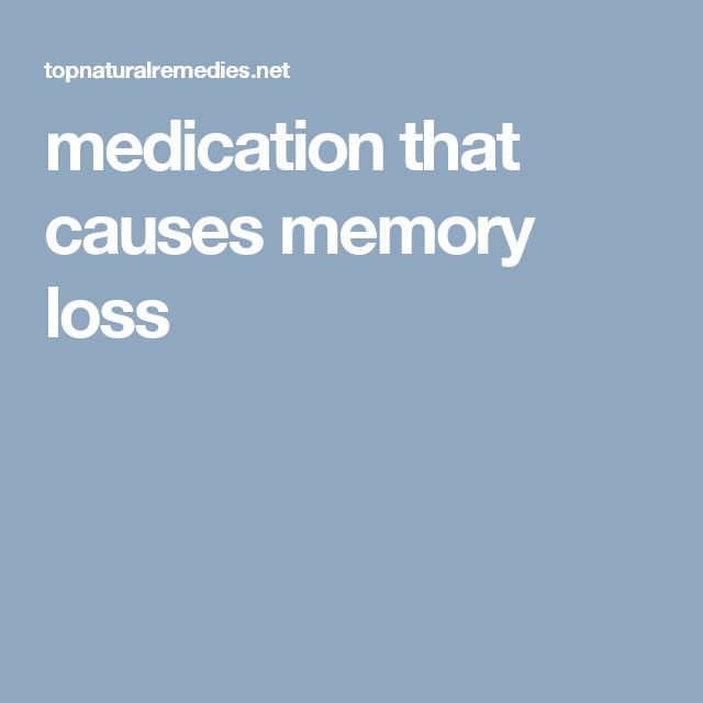 Best medicine for memory