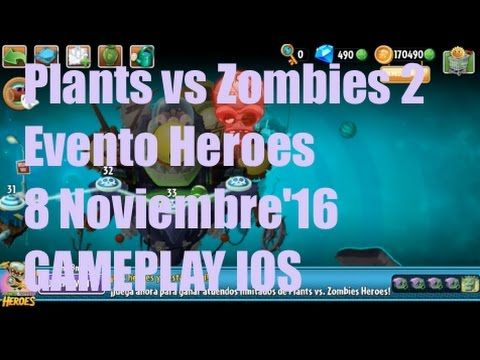 Plants vs Zombies 2 - Evento Heroes - 8 Noviembre'16 - GAMEPLAY IOS