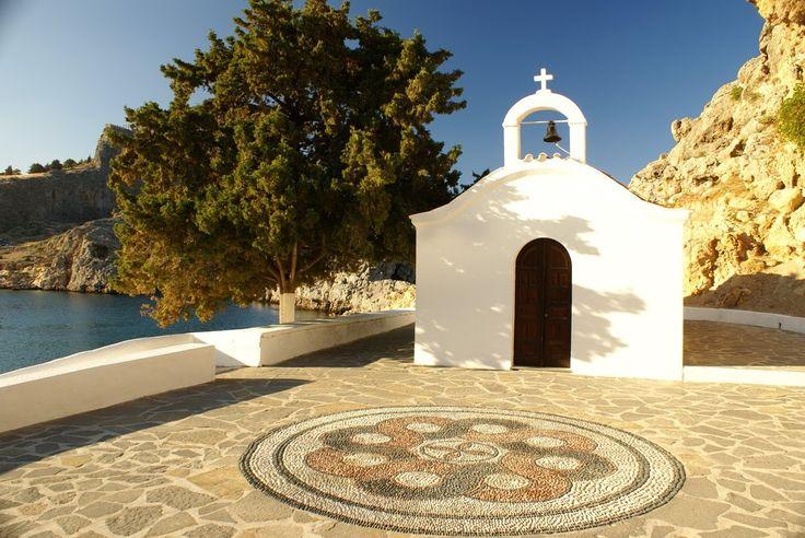 Agios Pavlos chapel, Lindos, Rhodes, Greece.