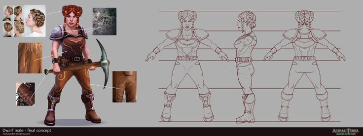 Dwarf female_turnaround