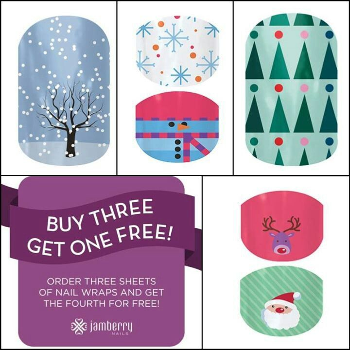 "These are totally happening for Christmas. Jamberry nail wraps last for 2 weeks and save you the trip to the salon just use a little heat!  Jamberry Nail Wraps-Buy Three Get One Free! Www.nomessmani.jamberrynails.net Www.facebook.com/Tiffany.marrero.54 Choose shop now , pick your favorites, then at checkout be sure to choose ""my first party"""