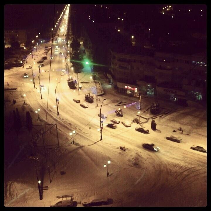Winter time in Onesti, Romania #visitromania #onestitown