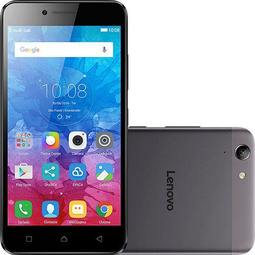 """Smartphone Lenovo Vibe K5 Dual Chip Android Tela 5"""" 16GB 4G Câmera 13MP - Grafite - Submarino.com"""