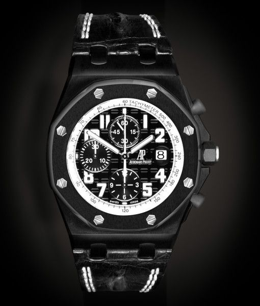 #Buy #New customized #Audemars Piguet Royal Oak Offshore Bianco MK1 Reference 26020ST.00.D001IN.01.A model watch from trusted dealer of prestigious Audemars Piguet watches in UK. 2 yrs of #Warranty